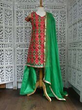 Phulkari colourful salwar kameez Bollywood  UK Size 10 /EU 36  SKU15593