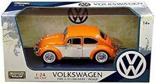 Motor Max - 1966 Volkswagen Beetle - Orange & White - 1:24 Scale - Free Shipping