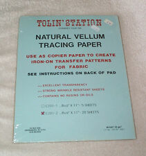Natural Vellum Tacing Paper Tolin' Station Pack 20 Sheets 8 1/2 x 11,50gm2,31 lb