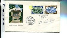 Vatican City 1957 First Day Stamp Cover Scott 227 -228 Signed 7864H