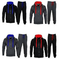 Mens Tracksuit Set Fleece Hoodie Top Bottoms Jogging Joggers Gym CONTRAST 2XL-5X