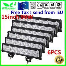 """6X 15"""" 90W LED Luz de Trabajo Barra de Conducción Combo Offroad Camión 4WD Coche"""
