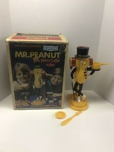 1967 Vintage Emenee Mr Peanut Peanut Butter Maker With Box No Handle