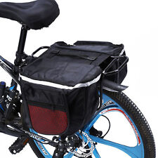 Portable Waterproof Bike Bicycle Pannier Rear Seat Bag Carrying Handle Pouch SM