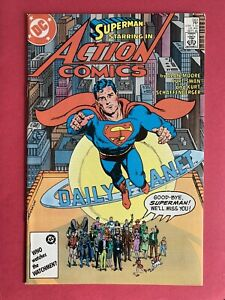 DC Action Comics #583 NM- (9.2) Superman Last Final Issue Alan Moore