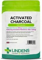 Activated Charcoal Teeth Whitening 400mg 120 Capsules Reduce Flatulence Lindens