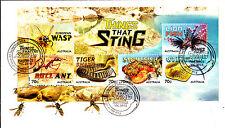 2014 Things That Sting (Mini Sheet) FDC - Hastings Vic 3915 PMK