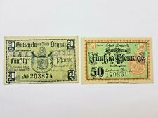Notgeld 2x 50 Pfennig Stadt Liegnitz Schlesien Serie V& 1.1.1920| Zustand I-