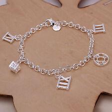 925 Sterling Silver Roman Charms Bracelet Jewellery Christmas Gift Present Girl