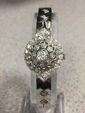 Vintage 31 Diamond Gold Watch 14K case/band Flip-Top Peek-a-Boo Serviced 36.2g