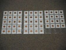 1957 to 2012 One Cent Collection ***** 56 coins ***** Brilliant & UNC