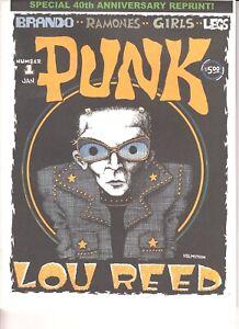PUNK #1 Reprint Lou Reed Ramones Brando John Holmstrom Mary Harron SIGNED