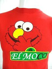 Mens Funny EL MOCO Elmo Picking His Nose Sesame Street Adult Red T Shirt S