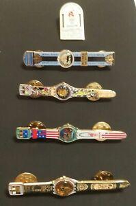 Olympic Pin: Five Atlanta Olympic Pins Olympic Swatch Pins 5 Swatch Olympic Pins