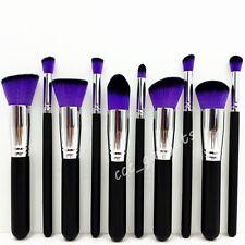 10pcs Set Make Up Brushes Foundation Concealer Bronzer Contour Blending Blusher