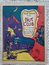 vintage 1943 NUT CLUB Greenwich Village, New York City cover art signed JONTOZ