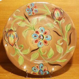 "Gail Pittman COTTAGE GARDEN 15"" Chop plate / Round platter, Southern Living, EUC"