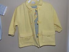 Le Top 18M Yellow Ducks Jacket & Shirt Fleece Quakers Blue Striped Long Sleeve