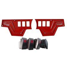XP1000 6 Rocker Switch Dash Panel Red Billet Aluminium Waterproof 20 Amp SXS