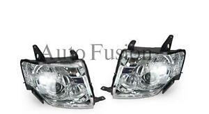 Headlights Pair With Motor For Mitsubishi Pajero NS/NT (2006-2010)
