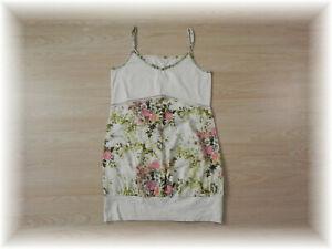 * florales Träger Kleid Stretch Blumen * Gr. 40 *