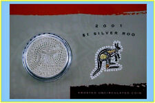 2001 $1 Kangaroo Silver Frosted Uncirculated 1 oz. Coin