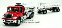 International 7600 Red Tank Truck w/Trailer HO 1/87 Walthers 949-11670
