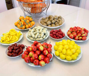 20PCS/Bag Artificial fruit mini fake food kitchen office home party BBQ decors