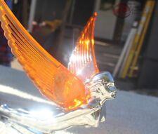 Art Deco Flying Godess 40's 50's Hood Ornament Custom Hot Rod Truck Amber Wings