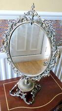 Lovely old/vintage metal brass frame mirror