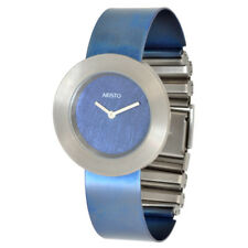 Aristo Titan Blue Oxidized Quartz Schmuck-Spangen Women's Watch 5D92 Ronda