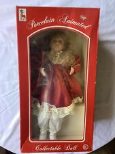 Porcelain Animated Collectable Doll— Santas Best 1994