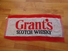 RARE VINTAGE GRANT'S SCOTCH WHISKY - PUB BAR BEER TOWEL BREWERIANA