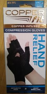 Copper Fit Hand Relief Compression Gloves L/XL