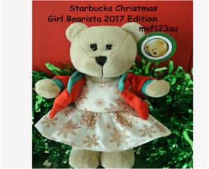 STARBUCKS Christmas Girl Bearista Bear 2017