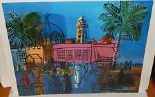 """RAOUL DUFY """"THE PIER AND PROMENDE AT NICE"""" COLOR OFFSET LITHOGRAPH"""