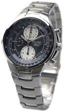 SEIKO Criteria SND487 SND487P1 Men Chronograph Black Dial 100m Steel Watch