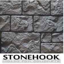 PLASTIC MOLDS FOR CONCRETE Stacked Stone Wall Veneers Tiles CASTLE Forms Poly