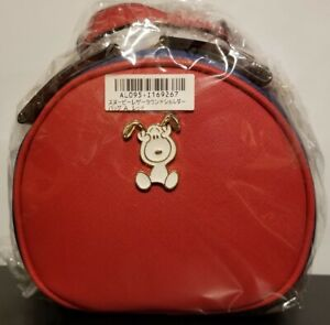 Snoopy Leather Round Shoulder Bag