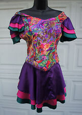 Vtg Players Island Resort Casino Spa Uniform Carmen Miranda Costume tropical S M
