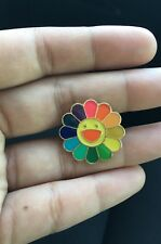 TAKASHI MURAKAMI Kaikai Kiki Flower Lapel  Pin Badge Rainbow complexcon Us Selle