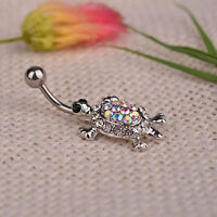 Beauty Turtle Piercing Body Hot Crystal Dangle Navel Belly Button Ring Bar Sale