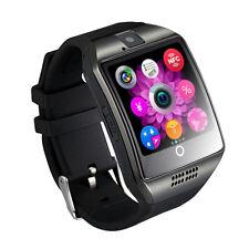 Q18 Bluetooth Smart Wrist Watch Camera for Android Samsung SIM Card Black