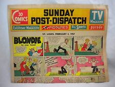 1957 Sunday Comics St. Louis Post Funnies Ford Donald Duck Lil Abner Pogo Gordo