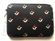 NWT MARC JACOBS Floral iPad Tablet Black Neoprene Zip Computer Storage Case