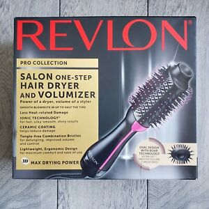 Revlon One-Step Hair Dryer & Volumizer Hot Air Brush - Pink / Mint - NO BOX