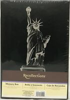 RARE Recollections STATUE OF LIBERTY NYC KEEPSAKE Storage Shoe Photo MEMORY BOX