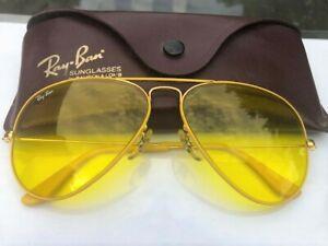 "Vintage B&L Ray Ban ""Yellow Flying Colors"" Aviators ""Yellow"" Kalichrome Lenses!"