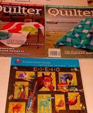 Lot of 3, Sept & Nov 2013 American Quilter Magazine & 2013 Sept/Oct Supplement