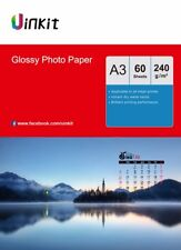 A3 Photo Paper High Glossy 240Gsm Inkjet Paper Photography Printing - 60 Sheets